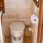 Composting toilet in a tiny house