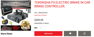 Towing tiny house trailer brake controller