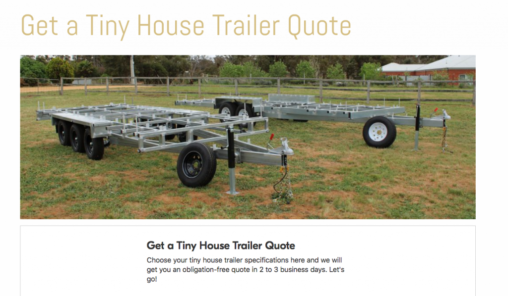 Order best tiny house trailers in Australia