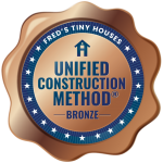The Bronze Unified Construction Method® is when the builder has used 1 to 2 of the 4 elements that make up the Unified Construction Method®.