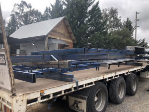 Tiny House trailers before galvinizing